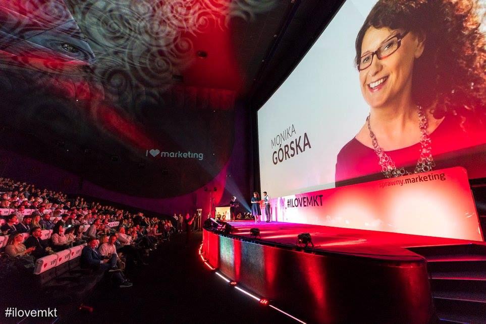 Monika Górska na konferencji I love Marketing