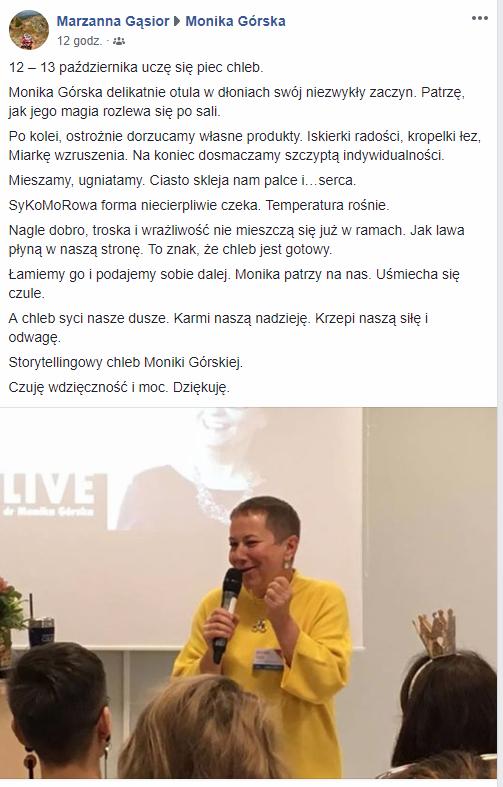 Storytellingowa Konferencja dr Moniki Gorskiej OPOWIADAJ I ZARABIAJ Live 2018