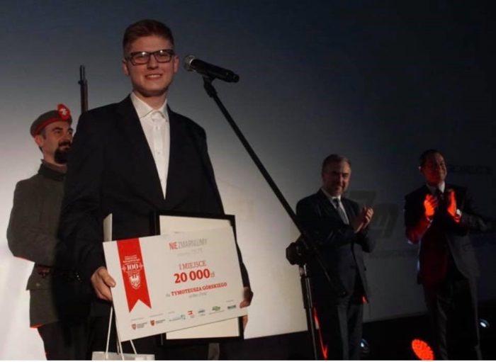 Tymoteusz Górski - zwycięzca konkursu na najlepszy film