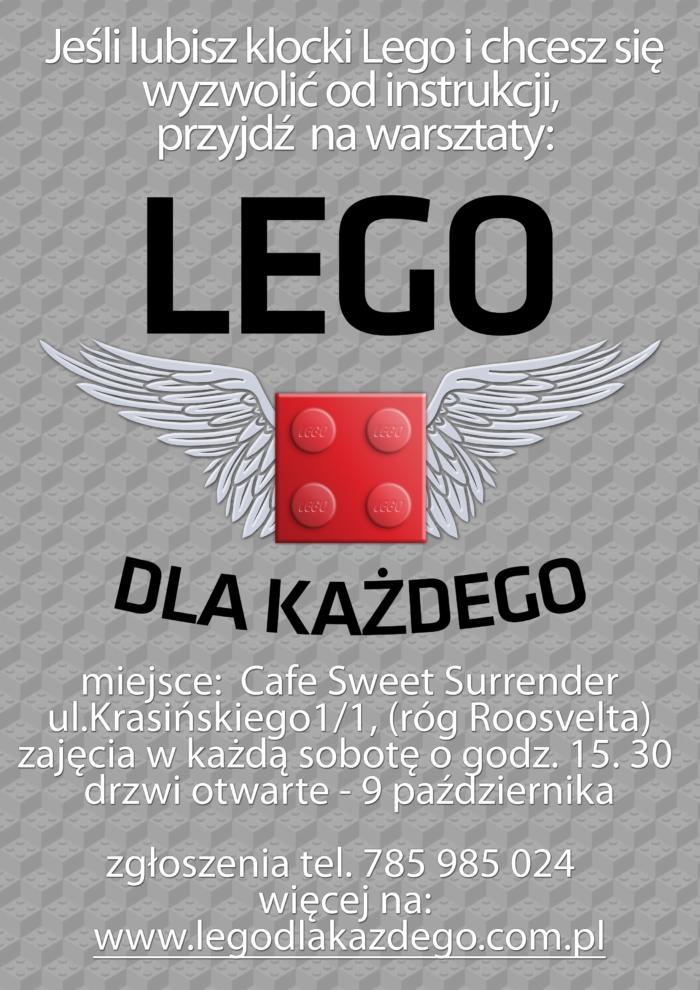 Warsztaty Lego autorstwa Tymoteusza Górskiego - plakat -format A4
